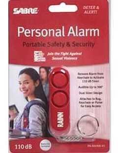 Sabre Personal Alarm Alarm - Keychain Personal Alarm - Keychain Red Pa-RAINN-01