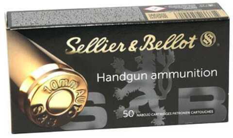 Sellier & Bellot 10MM Pistol Ammunition 180 Grain FMJ Brass Case Boxer Primed 50 Rounds 1164 FPS