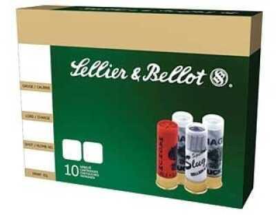 "Sellier & Bellot Slug 12Ga 2.50"" 1 1/8 oz Slug Standard Velocity 10 Rounds Ammunition SB12HVS"