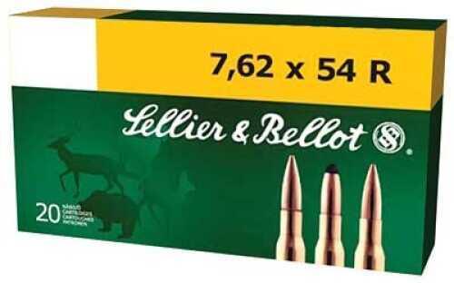 Sellier & Bellot Rifle 762X54R 180Gr Full Metal Jacket 20 400 SB76254RA