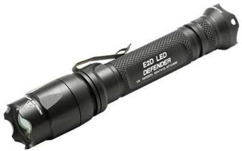 Surefire E2d Led Defender Flashlight Dual-output Led - 200/5 Lumens Constant-on Click-type Tailcap Switch, St E2DL-BK