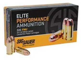 Sig Sauer Elite Ball, 40 S&W, 180 Grain, Full Metal Jacket 50 Rounds Ammunition E40SB2