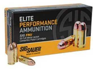 Sig Sauer Ammo, 9MM, 115 Grain, Full Metal Jacket E9MMB1