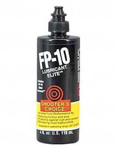 Shooters Choice FP10 Elite Liquid 4oz Lube 12/Box Squeeze Bottle CFPL04C