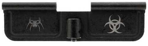 """AR-15 Spike's Tactical Ejection Port Door Part Black """"Bio Hazard"""" Engraving SED7011"""