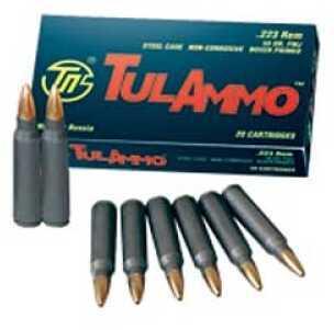 Tulammo TULA 223 Rem 55Gr FMJ 100 Rounds Ammo TA223100