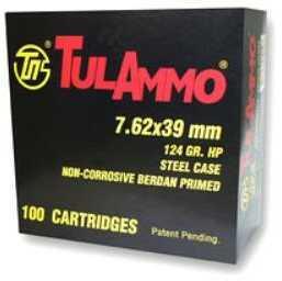 TulAmmo USA Steel Case 7.62X39 124 Grain Hollow Point 100 Round Box UL076230