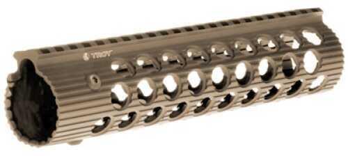 """Troy Industries Alpha Rail Flat Dark Earth No Sight 9"""" STRX-AL1-90FT-01"""