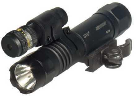 Leapers, Inc. - UTG P38 - Accushot Flashlight Picatinny LED Weapon Flashlight w/ Adjustable Red Laser w/ Quick Detach Mo LT-ELP38Q