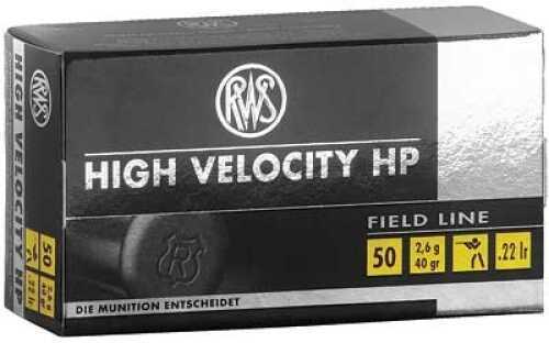 RWS /Umarex Ammunition 22 LR 40Gr Hollow Point High Velocity 50 5000 2132494