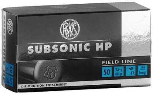 RWS /Umarex Ammunition 22 LR 40Gr Hollow Point Subsonic 50 5000 2132664