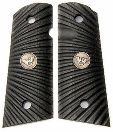 Wilson Combat Grip Grip Black G10 Flat Bottom Starburst Pattern Full 351ACFS