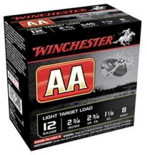 "Winchester AA Tracker 12Ga 2.75"" #8 Shot 1-1/8 oz Orange 25 Rounds Ammuntion AA128TO"