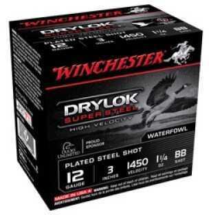 "Winchester Supreme High Velocity Steel Waterfowl 12 Gauge 3"" 1 1/4oz BB Shot (Per 25) SSH123BB"