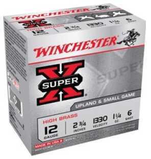 "Winchester 12 Gauge, 2 3/4"", 1 1/4oz 6 Shot, (Per 25) Shotgun Ammo X126"