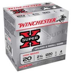 """Winchester Super-X High Base 20G 23/4"""" (23/4-1) 25BX X204"""