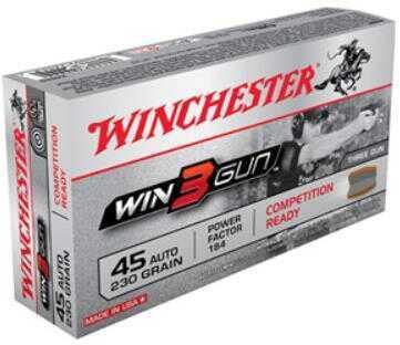 Winchester 45 ACP 230 Grain Full Metal Jacket 50 Rounds WIN3Gun Ammo Md X45TG