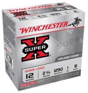 """Winchester Ammunition Super-X 12 Gauge 2.75"""" #8 3.25 Dram 1oz. Shotshell 25 Round Box XU128"""