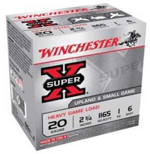 """Winchester Ammunition Super-X 20 Gauge 2.75"""" #6 2.5 Dram 1 oz. Shotshell 25 Round Box XU20H6"""