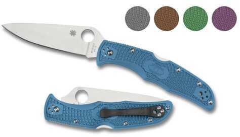 Spyderco Endura4 Lightweight Blue FRN Plainedge C10FPBL