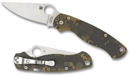 Spyderco Paramilitary2 Camo G-10 Plainedge C81PCMO2 C81GPCMO2