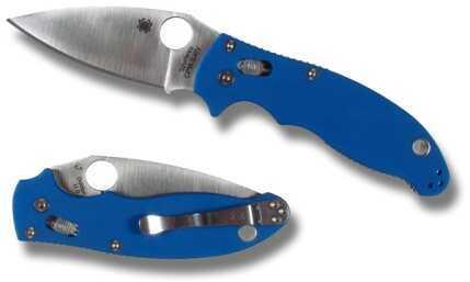 Spyderco Manix2 FRN Translucent Blue Plainedge C101PBL2