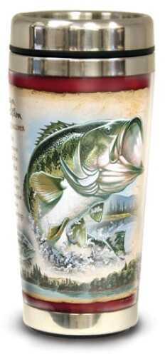 American Expedition Wildlife Steel Travel Mug - Largemouth Bass