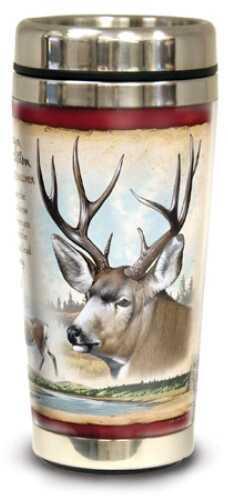 American Expedition Wildlife Steel Travel Mug - Mule Deer