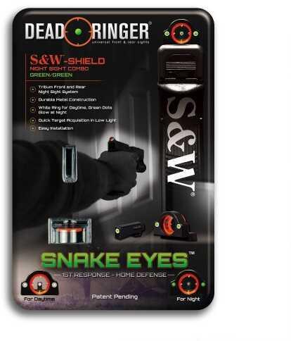 Dead Ringer S&W Shield-3: Green-Green Handgun Sight DR4418