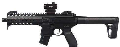Sig Sauer MPX Air Rifle.177 Cal CO2 30 Rd Black Sig20R Red Dot