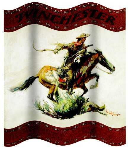 Rockin' W Brand Rockin W Brand Winchester Horse & Rider Shower Curtain W1220
