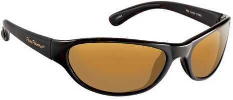 Flying Fisherman Fly Fish Key Largo Sunglasses Matte Black/Amber 7865BA