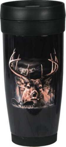 Rivers Edge Products Deer Ss/Plastic Travel Mug 1070