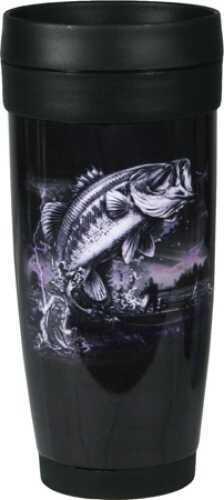 Rivers Edge Products Fishing Ss/Plastic Travel Mug 1071