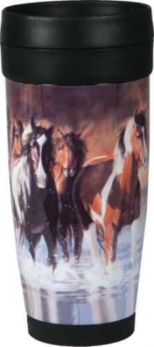 Rivers Edge Products Horse Ss/Plastic Travel Mug 1074