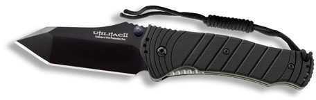 Ontario Knife Company Ontario Knife Co JPT-4S Tanto Folding Knife Black SQ BP 8914