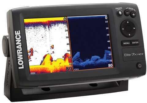 Lowrance Elite-7X Fishfinder W/Xdcr 50/200 455/800 md: 000-10962-001