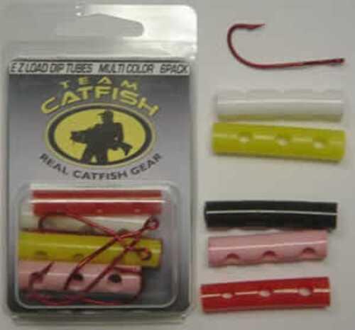 Team Catfish Ez Load Tubes W/2/0 Hooks 6Pk Cam Action White Mn# EZR6J