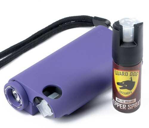 Guard Dog All-In-One Stun Gun/Flashlight/Pepper Spray -Prpl