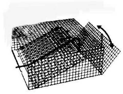 Frabill Inc Crawfish Trap Black 12x12x5 Flat 1262