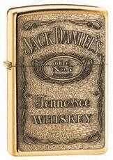 Zippo Jack Daniel'S Label Brass Emblem High Polish Brass 254BJD.428