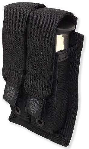 Tac Pro Gear Double Pistol Mag Pouch w/ Griptite Black P-DPGT1-BK