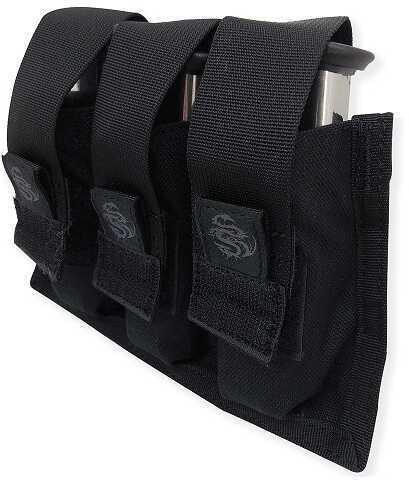 Tac Pro Gear Tacprogear Black Triple Pistol Mag Pouch with Griptite P-TPGT1-BK