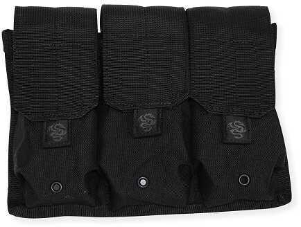 Tac Pro Gear Triple Rifle Mag Pouch Black P-TRM1-BK