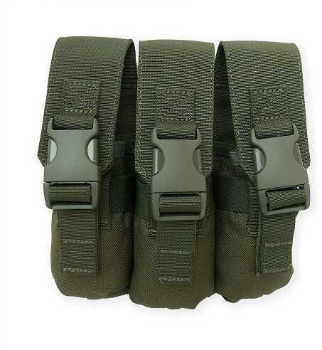 Tac Pro Gear Triple Flashbang Pouch Olive Drab Green P-TFLBG1-OD