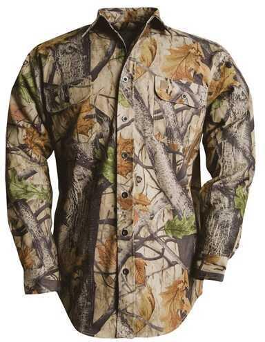 Wooden Trail Camo L/S Twill Shirt Big Game Camo M