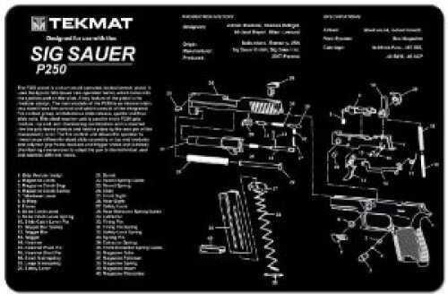 TekMat Sig Sauer P250 Handgun Mat 17-Sig250