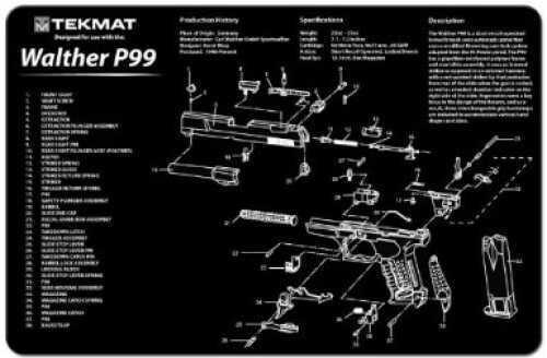 TekMat Walther P99 Handgun Mat 17-WAL-P99