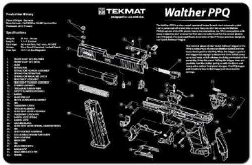 TekMat Walther PPQ Handgun Mat 17-WAL-PPQ