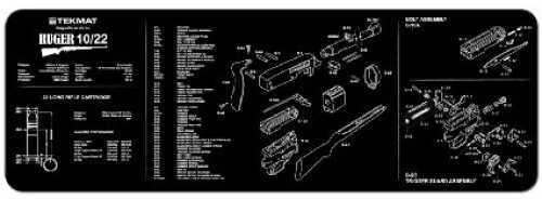 "Beck Tek, LLC Ruger 10/22 Rifle Mat, 12""x36"", Black Finish 36-1022"